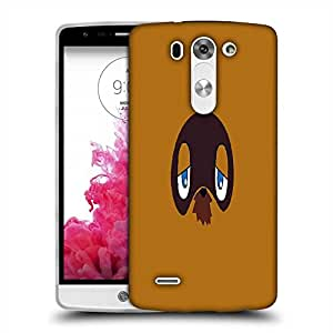 Snoogg grumpy in face Designer Protective Back Case Cover For LG G3 BEAT