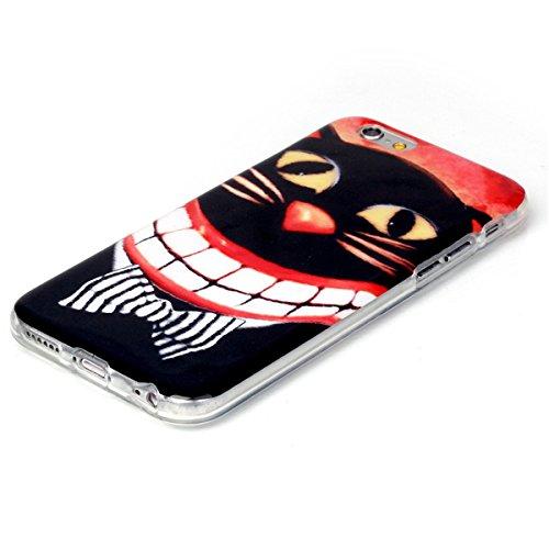 iPhone 6 Coque, iPhone 6S Coque, Lifeturt [ Pivoine ] Housse Anti-dérapante Absorbant Chocs Protection Etui Silicone Gel TPU Bumper Case pour Apple iPhone 6s / iphone 6 4.7 inch E02-Big bouche chat15113