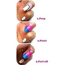 LIFECART Pink Peel Off Liquid Nail Tape Peel Off Base Coat Nail Art Liquid Palisade-15ml,Pink by LIFECART