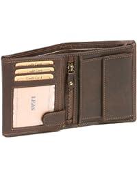 Portefeuille pour homme et femme LEAS MCL, cuir véritable, marron - ''LEAS Basic-Vintage-Collection''