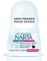 Narta - Déodorant Femme Bille Anti-Transpirant Invisible Peaux Epilées Efficacité 48h - 50 ml