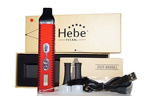 HEBE TITAN 2 / TITAN II / Verdampfer Kit für Kräuter / Dry Herb Vaporiser in rot