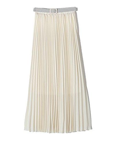 Cheerlife plissierter Faltenrock mit Gürtel weiß