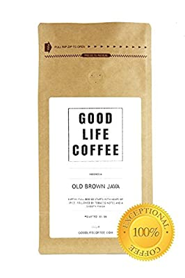 GOOD LIFE - Old Brown Java, ROASTED TO ORDER Luxury Arabica Coffee Beans ? Delightfully Delicious ? Experience EXQUISITE single origin coffee thats both Bold & Beautiful from a LOVELY textured start to full body finish you will love ? Award Winning Single