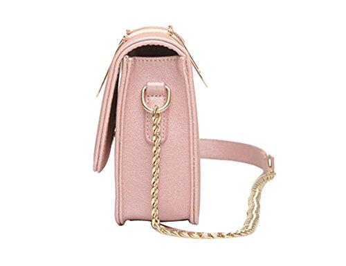 FAIRYSAN, Borsa a tracolla donna giallo Rosa rosa