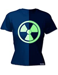 123t Women's GLOW IN THE DARK RADIOACTIVE - Ladies Fitted T-shirt