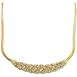 Espiral de cristal collar de oro para las mujeres - Collares Vintage Serpiente cadena