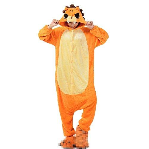 Rojeam Lion Pyjamas Tier Kostüm Cosplay Strampler Kigurumi Weihnachten Halloween (Halloween Lion Frauen Kostüme)
