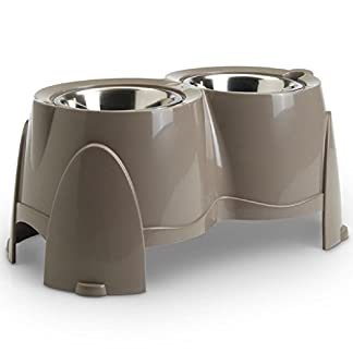 PaylesswithSS Doggy Feeder Bar Set Double Bowls with Stand 41JfGF9i72L