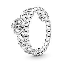 Pandora Women's 925 Sterling Silver Princess Tiara Ring - 5 US, 190880CZ-50