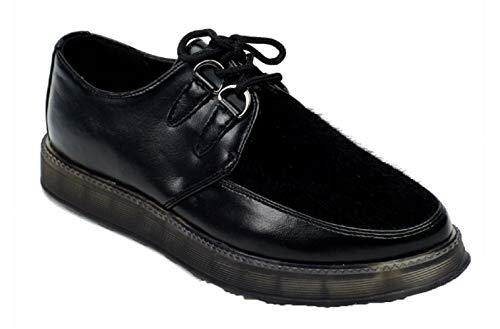 Martin Pescatore Damen Contrast Faux Leather Brogue Black