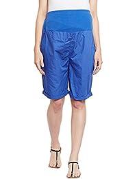 Oxolloxo Navy Blue Maternity Shorts