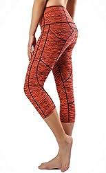Sugar Pocket Womens Outdoor Capris Fitness Tights Leggings Walking Running Yoga Pants Xl