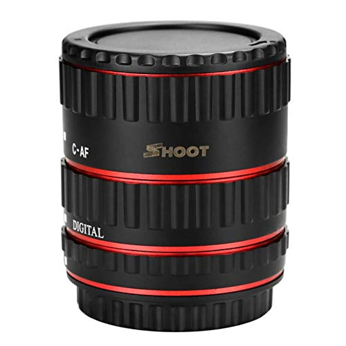 XT-364 3-Piece Portable Auto Focus Macro Extension Tube Set Extreme Close-Ups Design for Canon EF/EF-S Lens of Ballylelly
