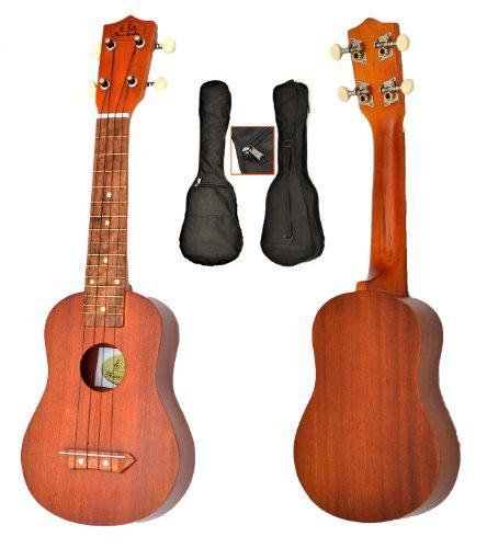 ts-ideen-ukulele-soprano-bois-sapelli-marron-jeu-de-4-cordes-sac-noir