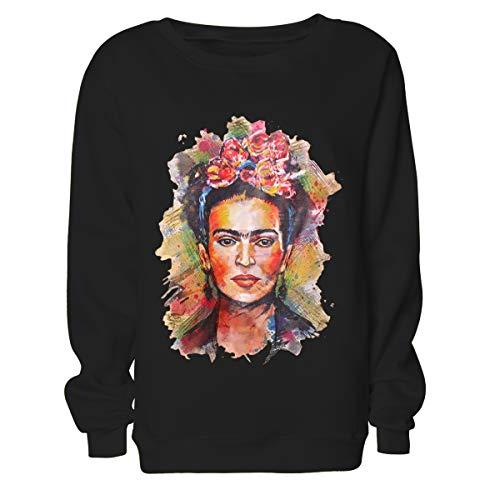 Frida Kahlo Imprimir Hoodie Sudadera con Cuello Redondo Mujer Sudadera con cuel