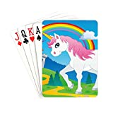 YXUAOQ Color Playing Cards Fairy Tale Unicorn Theme Image 2 Vector Illustra Game Playing Cards Unique for Kids & Adults Card Decks Games Standard Size