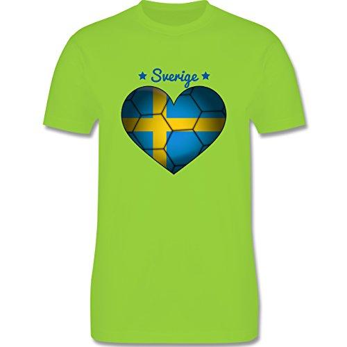 Handball - Handballherz Schweden - Herren Premium T-Shirt Hellgrün
