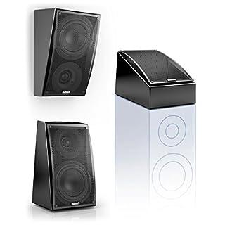 Nubert nuLine RS-54 Dolby Atmos Kompakt-Lautsprecher 2-Wege (15cm Tieftöner,3cm Hochtöner,90/160Watt,117-27000Hz) Stück, Lack Schwarz