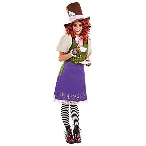 Erwachsenen Für Wunderland Miss Kostüm - Fun Shack Damen Costume Kostüm Womens Miss Hatter, Größe S
