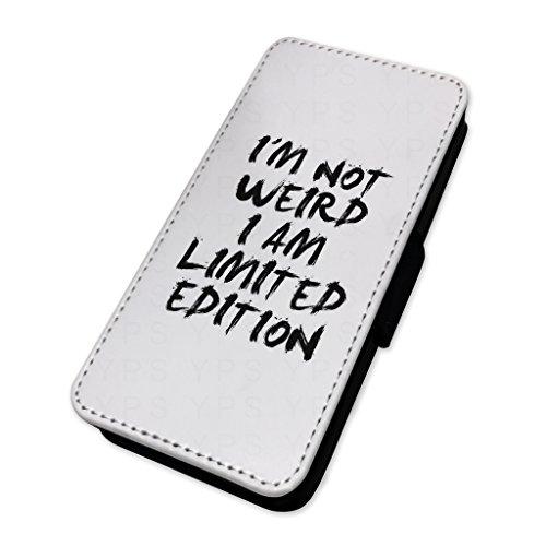 Im not weird–Limited Edition–Custodia ad aletta in pelle copertura di carta Apple Iphone 8 Plus