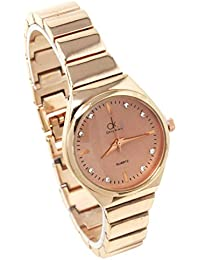 Fusine™ Rose Gold / Gold Dial Stylish Metal Watch for Women & Girls (Rose Gold 3)