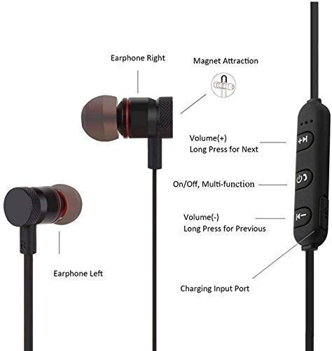 GOBYSO Bluetooth Headsets Wireless Earphones Headphones for Redmi Note 7 professional, Mi 6 professional, Redmi Y3, Samsung M10s M30s, OnePlus 7, Oneplus 6t, Vivo z1 professional, V15 professional, V17 Professional, Oppo F9 Professional, Mi Note 8 Image 3