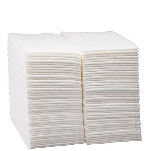 Luxus Leinen Einweg Handtücher in Bulk, weich und saugfähig Tuch wie Papier Serviette für Badezimmer, Küche, Hochzeiten, Partys, Abendessen oder Veranstaltungen, weiß 100Zählen von edaydeal