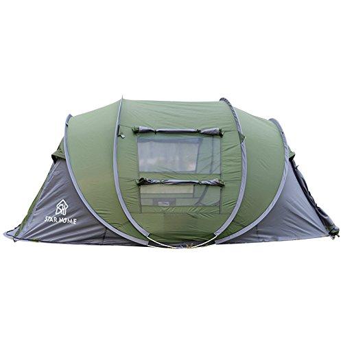 ALLIN Star Home 4 Personen Pop Up Erschwingliche Zelt Unterstützung Wandern Camping Reisen Familie Dinner (Grün)