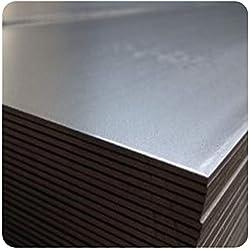 Alu-Stahl-Blech Stahlog - Plancha de acero plano (2 x 300 x 1000 mm)