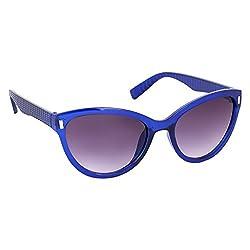 Roycee Womens Blue Cateye Sunglasses (RC 801-05)