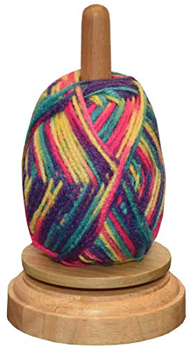 ** REVOLVING WOOL BALL HOLDER ** Keep Your Knitting KNOT FREE! With The Wooden Spinning Yarn Winder