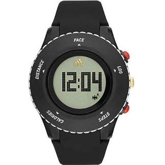 adidas 'Sprung' Reloj de Cuarzo de plástico y Silicona, Color Negro (Modelo: ADP3220)