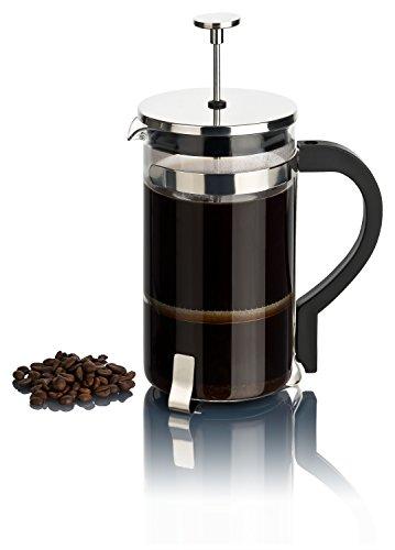 REMASD Kaffeebereiter groß 1 Liter mit Filter aus Edelstahl | Moderne French Press mit Glaskanne...