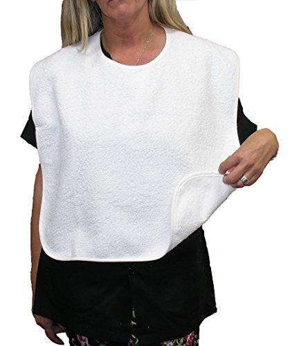 Drei erwachsene Lätzchen 100% Baumwolle Kleidung Displayschutzfolie