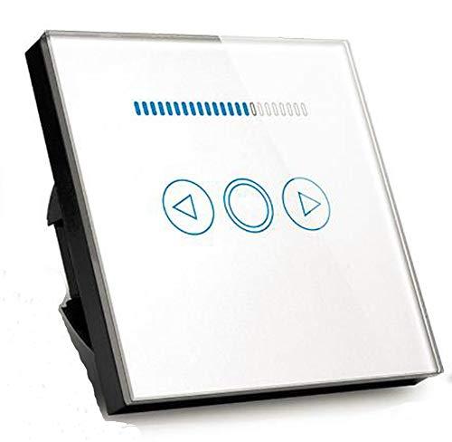 Touch Switch Dimmer 500W Kristallglas Panel LED Dimmer Wand Lichtschalter (Weiß) -