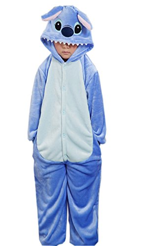 Stiche Kind Kostüm - La vogue Tier Cosplay Kostüme Tierkostüme Kinder Pyjamas Cosplay Jumpsuit Stich Blau