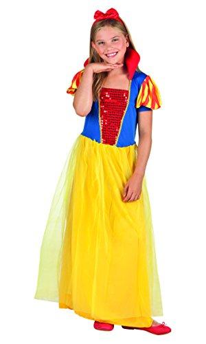 Boland Biancaneve Costume Bambina, Giallo/Rosso/Blu, 7-9 anni 82200