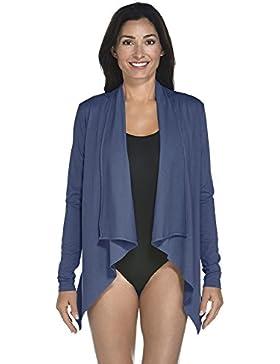 Coolibar UPF50+ UV Protective Chaleco, Mujer, Azul Oscuro, X-Small/Size EU 36