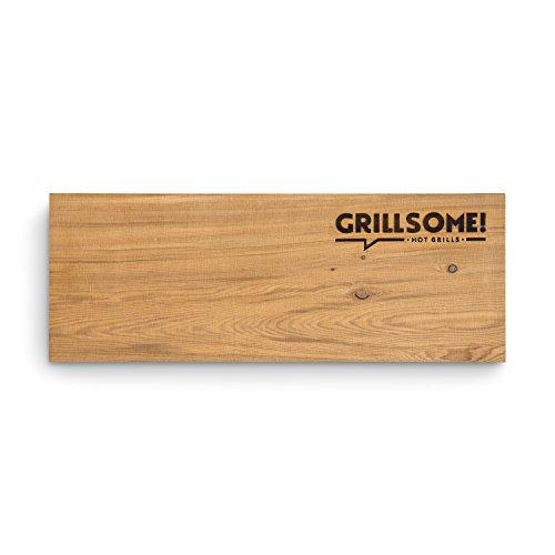 41JfP0fCHWL - 4 XL Räucherbretter aus kanadischem Zedernholz (40 x 15 x 1,5 cm) von Grillsome! Grillbretter, Grill-Planken 4 Stück (2 x 2er Set glatte und raue Oberfläche) mehrmals verwendbar, Raucharoma, Planke, Smoker Zubehör
