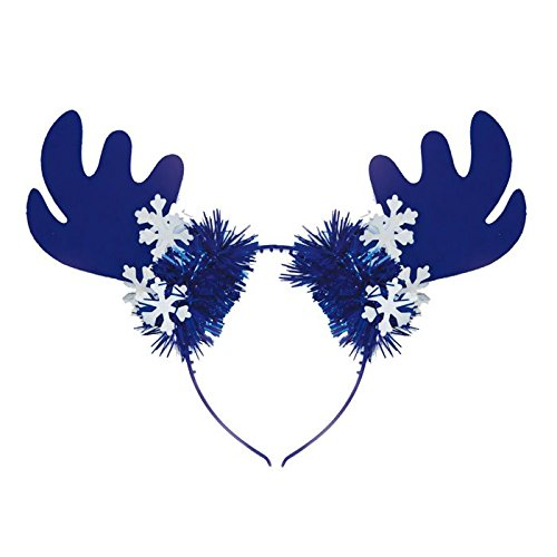 Preisvergleich Produktbild Kopfbügel Rentier Aprés Ski weiß-blau
