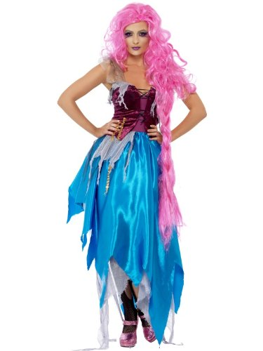 Kostüm Rapunzel Teen - Smiffys Mangled Maiden Kleid mit geschichtetem Rock, Größe M
