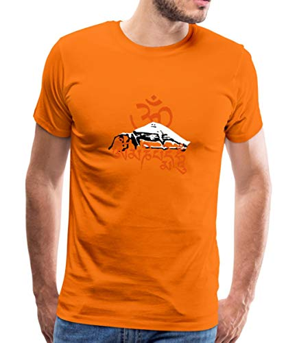 Spreadshirt Mt. Kailash Tibet - om mani Padme hum t-Shirt tshi Männer Premium T-Shirt, 4XL, Orange