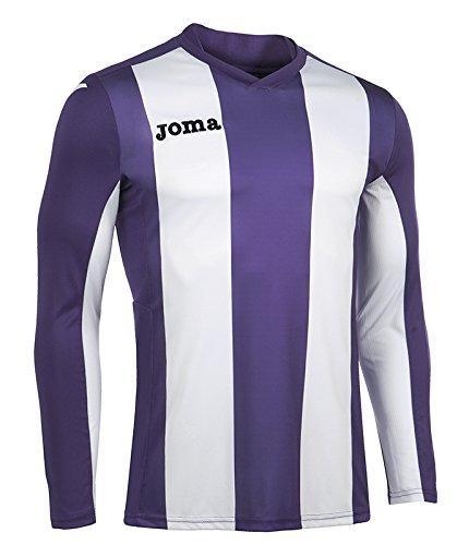Joma Pisa Langarm T-Shirt, Herren, Herren, Pisa Violett/Weiß