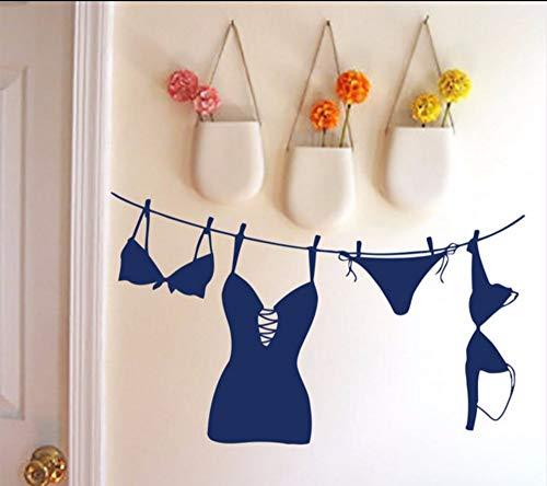 Lvabc 69X42 Cm Abnehmbare Pvc Wandtattoo Dessous Badeanzug Unterwäsche Waschküche Dekor Vinyl Wandaufkleber Ausgangsdekor Mädchen Zimmer Sexy Wandbild