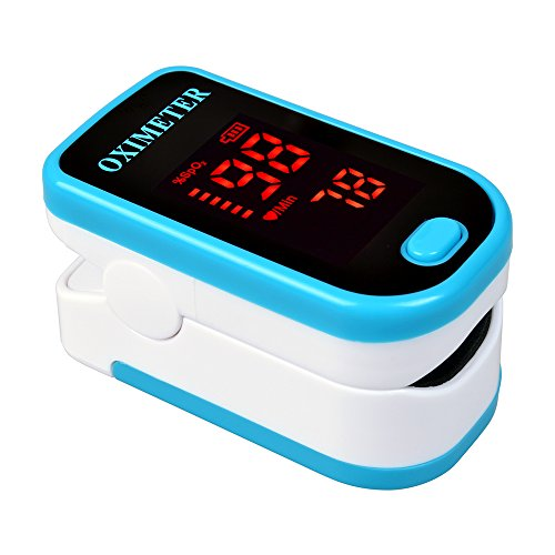 Elera Portable Finger Pulse Oximeter for SPO2 and Heart Rate Measuring w/ LED Digital Display (Blue)
