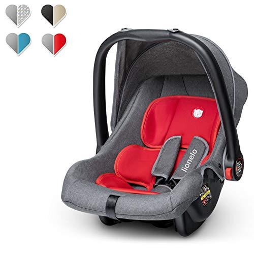 Lionelo Noa Plus Kindersitz, Autokindersitz Gruppe 0+ (0 bis 13 kg), ab Geburt, ECE R44/04, TÜV (Rot)