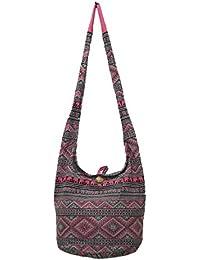 Pada Craft Shop Thai Hippie Hobo Sling Crossbody Shoulder Bag Purse Handmade Zip Ethnic Elephant Cotton Gypsy...
