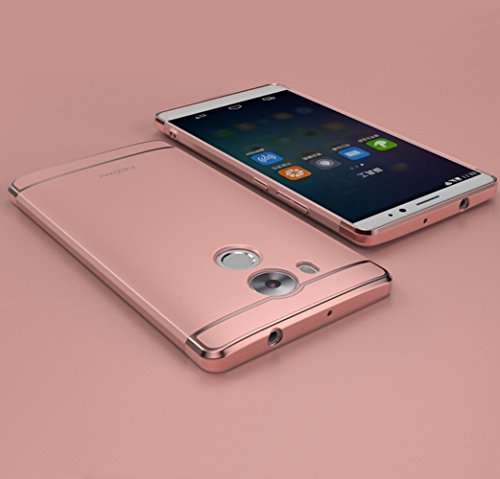 Huawei Mate 8 Hülle, DEMEDO (Plating Splicing Serie) PC Back Shell mit Überzug, Kamera Objektivschutz, 360 ° Schutzhülle für Mate 8 (Pink)