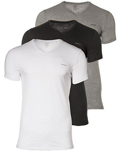DIESEL 3 Pack Herren T-Shirt, V-Neck,